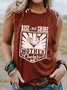 Round Neck Sleeveless Chicken Print Casual Top